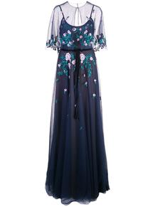 платье из тюля с кейпом MarchesaNotte 1393780450