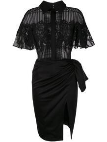 платье-рубашка с кружевной вставкой Saiid Kobeisy 152694065152