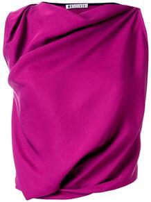 платье без рукавов с драпировкой Maticevski 1494748056