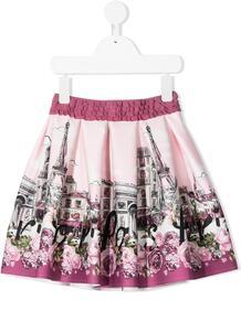 расклешенная юбка с принтом Monnalisa 157154634949