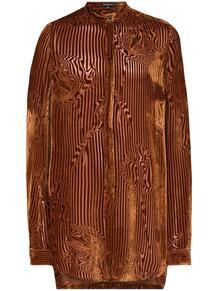 бархатная рубашка в полоску Ann Demeulemeester 1542087977