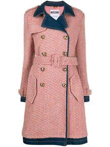 двубортное джинсовое пальто Love Moschino 158520955156