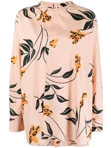 блузка без воротника с цветочным принтом Marni 163220395254