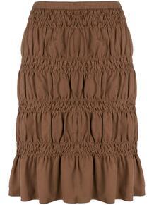 юбка со сборками Romeo Gigli Pre-Owned 128733015248
