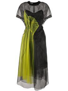 платье миди с прозрачными вставками QUETSCHE 150582515156