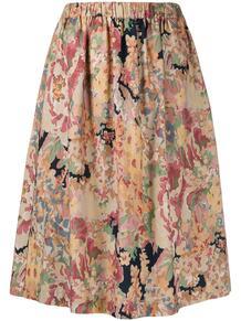 юбка А-силуэта с цветочным принтом Ymc 15898519888883