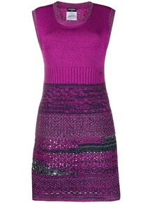трикотажное платье узкого кроя Chanel Pre-Owned 150761225248
