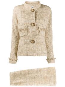 меланжевый костюм с юбкой 1980-х годов Chanel Pre-Owned 155583365156
