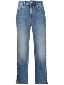 джинсы с зебровым принтом на лампасах Liu Jo 161605685053
