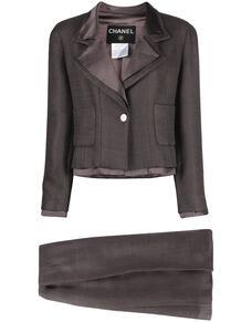 костюм 1999-го года с юбкой и однобортным пиджаком Chanel Pre-Owned 163523635248