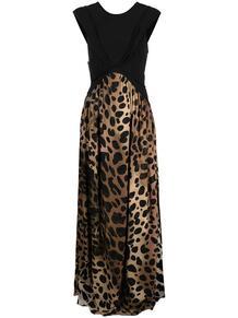 длинное платье с леопардовым принтом Just Cavalli 161155585248