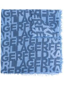 шарф с логотипом Lagerfeld 16412874636363633263