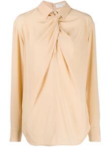 рубашка с драпировкой Victoria Beckham 1461484454