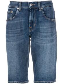 джинсовые шорты узкого кроя 7 for all mankind 151455585057