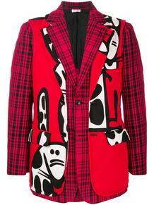 однобортный пиджак со вставками COMME DES GARÇONS HOMME PLUS 1566478376