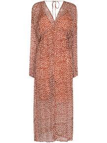 платье с разрезом и принтом CLOE CASSANDRO 155640828883