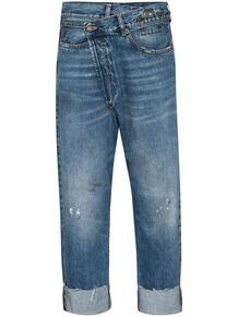 джинсы с подворотами R13 154895145055
