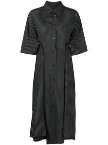 платье-рубашка в полоску MM6 Maison Margiela 1615898077