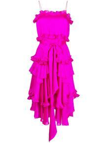 платье на бретелях с оборками ALEXANDRE VAUTHIER 162961265156