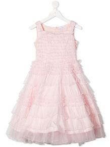 ярусное платье без рукавов с оборками Monnalisa 1643416856
