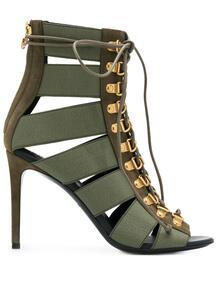 босоножки Lindsay на шнуровке BALMAIN 153774245154