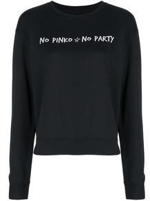 толстовка с надписью и логотипом Pinko 1612603376