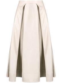 юбка А-силуэта с завышенной талией Marni 156586825252
