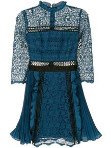приталенное кружевное платье мини Self Portrait 1583471156