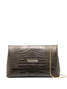 сумка на плечо с тиснением под крокодила Tom Ford 15979444636363633263