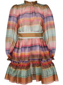 расклешенное платье в полоску Zimmermann 1621186851