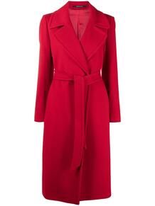 пальто с длинными рукавами и поясом Tagliatore 161208325254