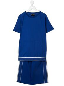 комплект из шортов и футболки с логотипом Emporio Armani Kids 16437763495232121114