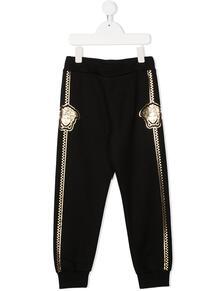 спортивные брюки с декором Medusa Versace Kids 155132814952