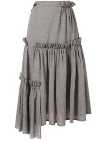 расклешенная юбка в ломаную клетку Y3 1526687049