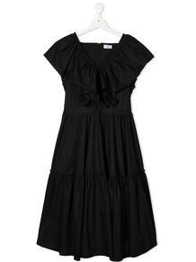 платье с короткими рукавами и оборками Monnalisa 1643517983