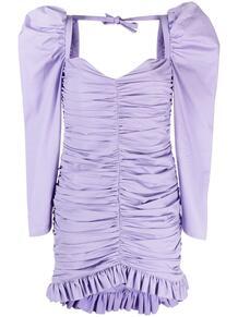 платье с объемными рукавами и драпировкой GIUSEPPE DI MORABITO 162029115248