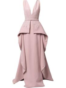 драпированное платье без рукавов Saiid Kobeisy 161978765152