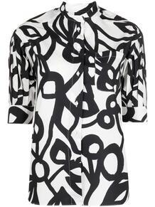 поплиновая рубашка с геометричным принтом ASPESI 164134875248
