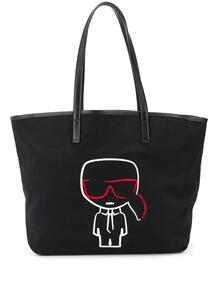 сумка-тоут K/Ikonik с вышивкой Lagerfeld 14523166636363633263