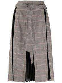 клетчатая юбка со складками Rokh 156328335156