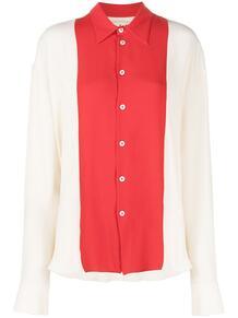 рубашка с длинными рукавами и контрастными вставками Marni 160482585250