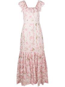 платье макси Niko с цветочным принтом LOVESHACKFANCY 1601039452