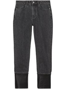 джинсы с контрастными манжетами и подворотами Burberry 161144925053
