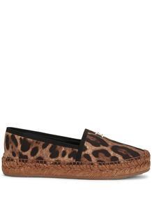 эспадрильи с леопардовым принтом Dolce&Gabbana 160915395157