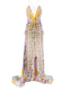 длинное платье с цветочным принтом Etro 162724135250
