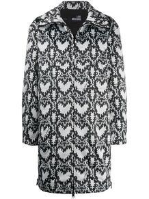 пальто на молнии с принтом Love Moschino 157432115248