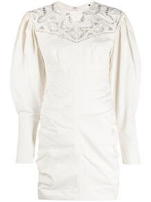 платье с пышными рукавами и кружевом Isabel Marant 164441335154
