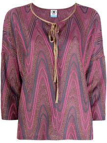 блузка с завязками и принтом M Missoni 164262588876