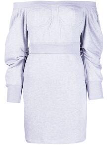 платье с открытыми плечами PHILOSOPHY DI LORENZO SERAFINI 1645415483