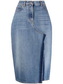 джинсовая юбка с разрезом Valentino 164412515248